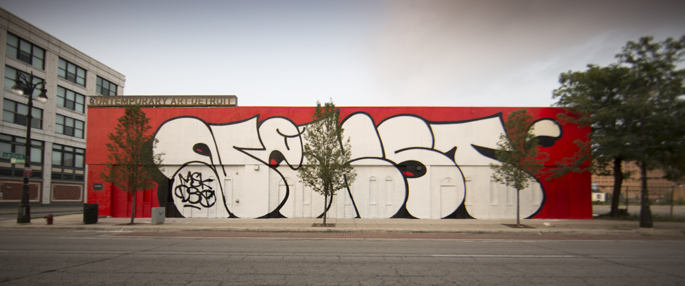 MOCAD   Woodward Ave. Exterior: NEKST Murals, 2013 by DONT, VIZIE, POSE, OMENS, REVOK, and SKREW. Photo by Colin M. Day