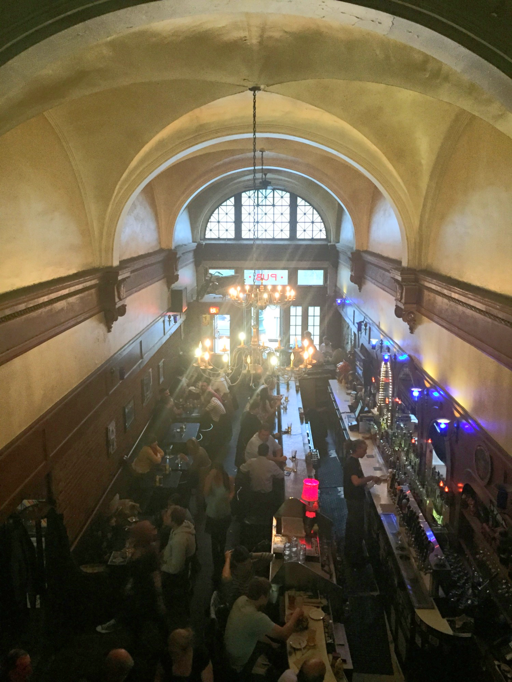 The view from the upper floor of  Grand Trunk Pub .