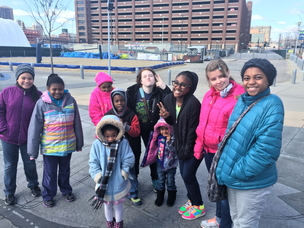 Mariah Green and her friends visit the  Detroit Riverwalk , even though it was a cold one!