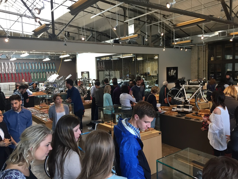 Quicken Loans Interns checking out the  Shinola  flagship store in Midtown.