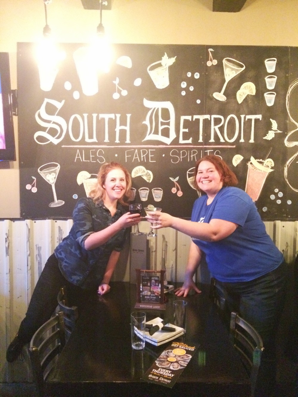 Cheers to hanging out in  South Detroit!
