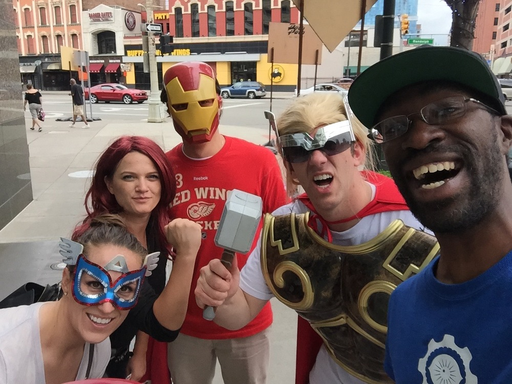 DXF'S EXPERIENCE COORDINATOR CALVIN MOORE TEAMS UP WITH THE AVENGERS!