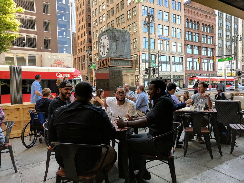 Patio season in Detroit