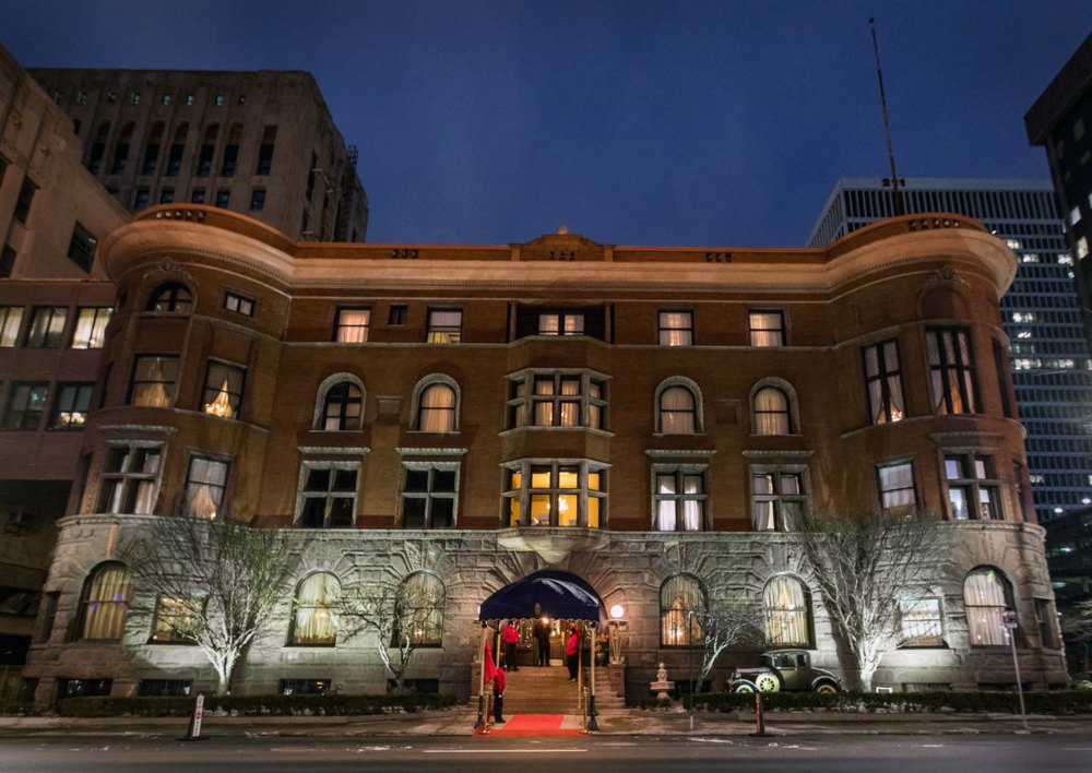 run of events: - 5:00 p.m. - Doors open and silent auction begins.5:30 p.m. - Strolling dinner is served & Detroit Club tours available.6:00 p.m. - Remarks from DXF Executive Director, Jeanette Pierce.7:30 p.m. - 10 p.m. - Afterglow party with musical entertainment.