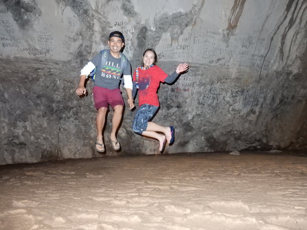 jump shot inside sagada caves