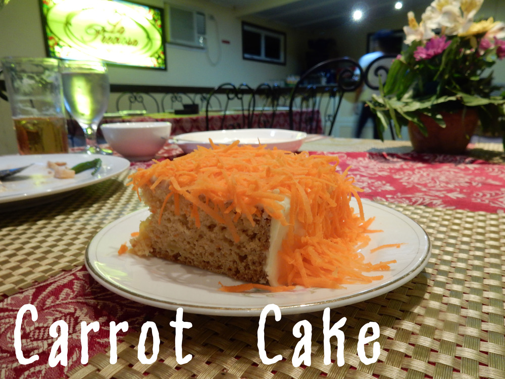 Carrot Cake at La Preciosa Laoag City