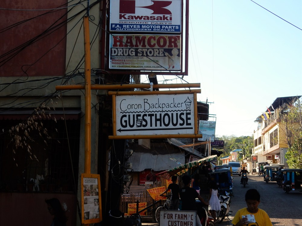 Coron Backpacker Guesthouse Sign