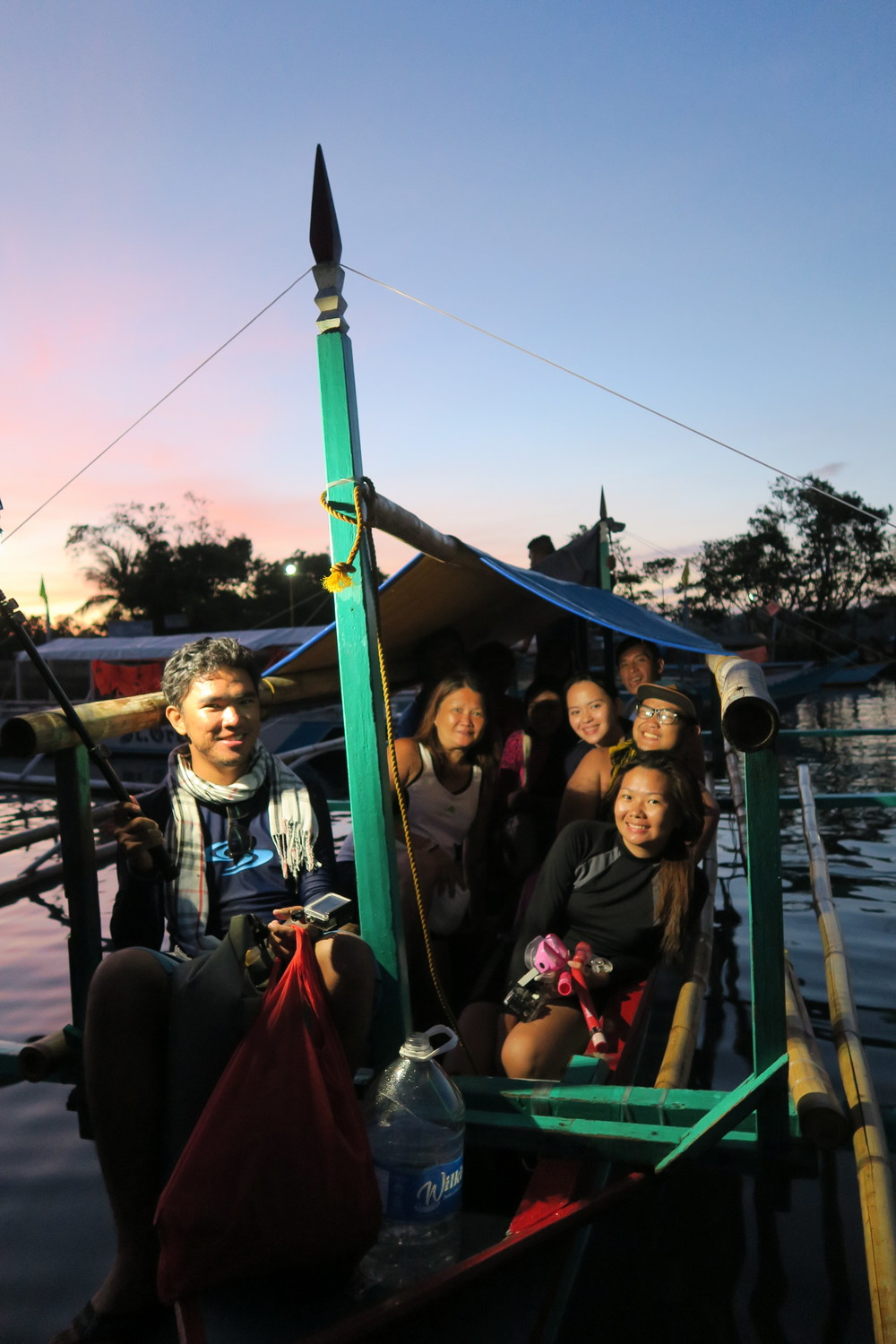 End of the island hopping tour in Caramoan