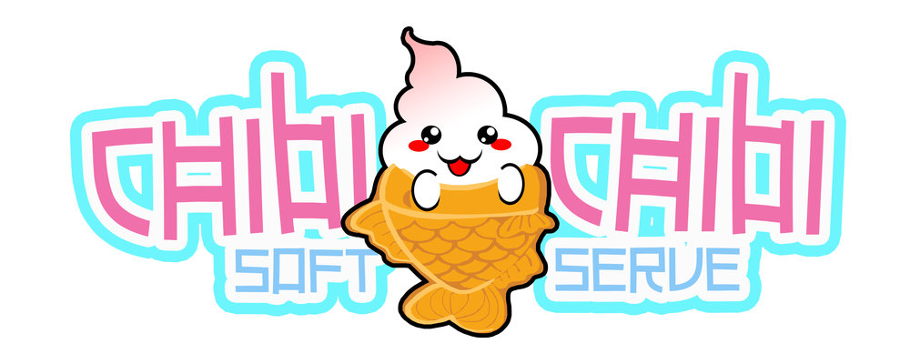 Chibi Chibi Soft Serve Logo