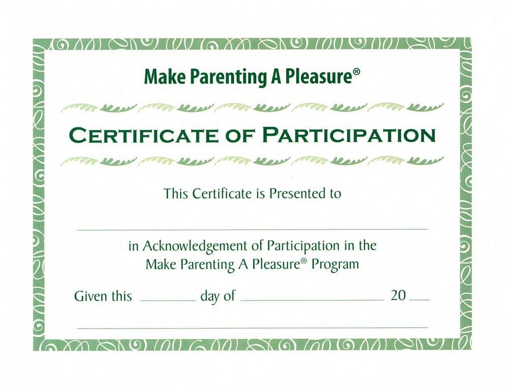 Make Parenting A Pleasure Graduation Certificates Set Of 15
