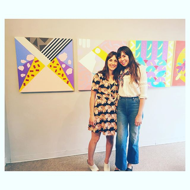 Loved running into @st_frances at the beautiful @daniellemariemasters show today!! 💓 #somastudio #maplewood #art #artshow #gallery