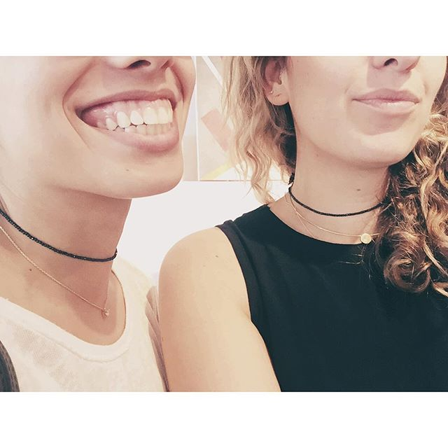 Cool girls wear chokers. New goodies just in time for #GNO. 🚬 #jewelry #choker #wiwt #style #shashi #ss16 #madagirls #minimal