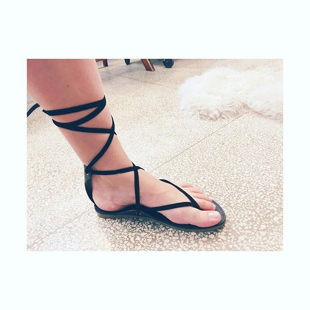Our friends @charlottestoneloves have done it again... Meet Ogden, the perfect minimal gladiator sandal. #love #minimal #clean #gorgeous #black #leather #madabeachbabes #madagirls #summer #style #wiwt #ootd