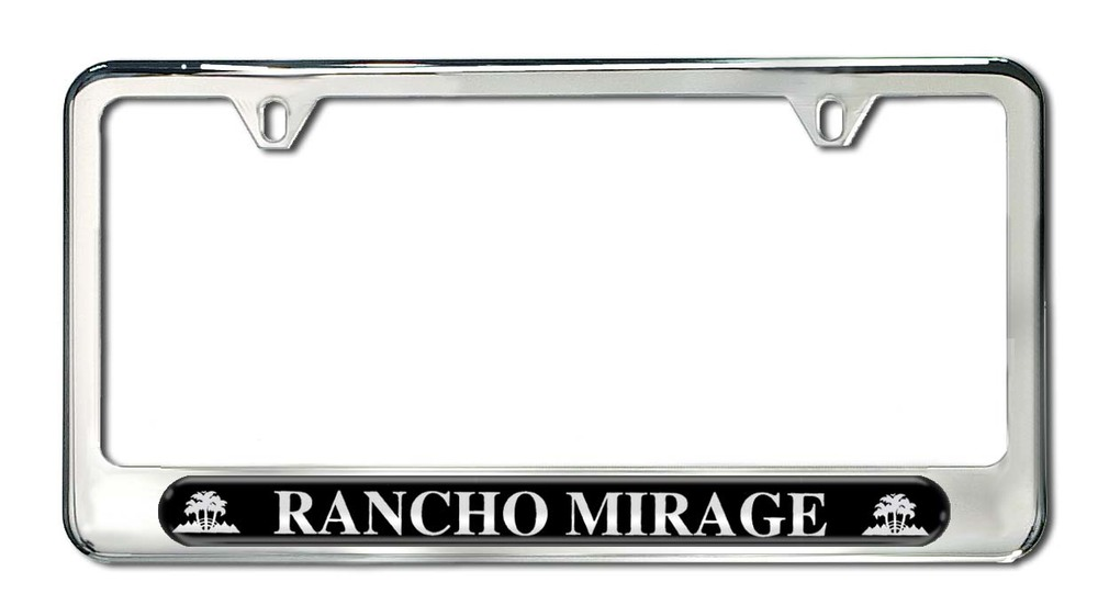 Rancho Mirage License Plate Frame | Camisasca Automotive Online Store