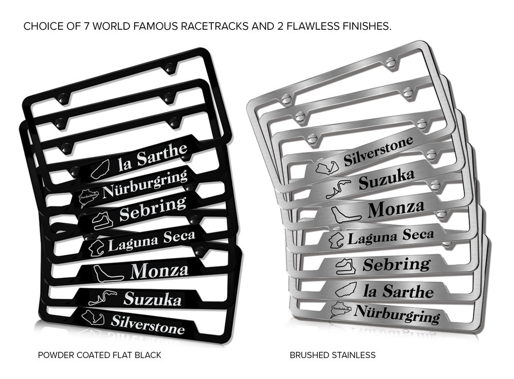 Racetrack License Plate Frame | Camisasca Automotive Online Store
