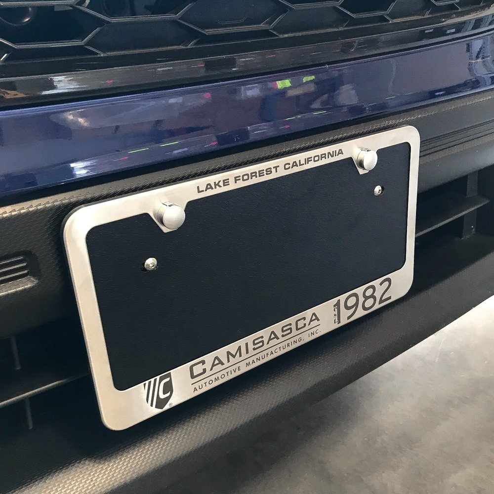 License plate frame and hardware hider caps sold separately