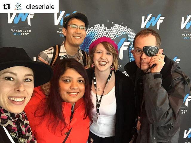 #Repost @dieseriale ・・・ Day 2 at the great @vanwebfest! ❤️ @sabeffy with @diwaloween , @oneminutemeal , @seekatv , @monalisacowboy, @kynnstlah & @niximtv . • • • #vwf18 #vancouver #webfest #digitalseries #webseries #webdrama #dieseriale #seriale18