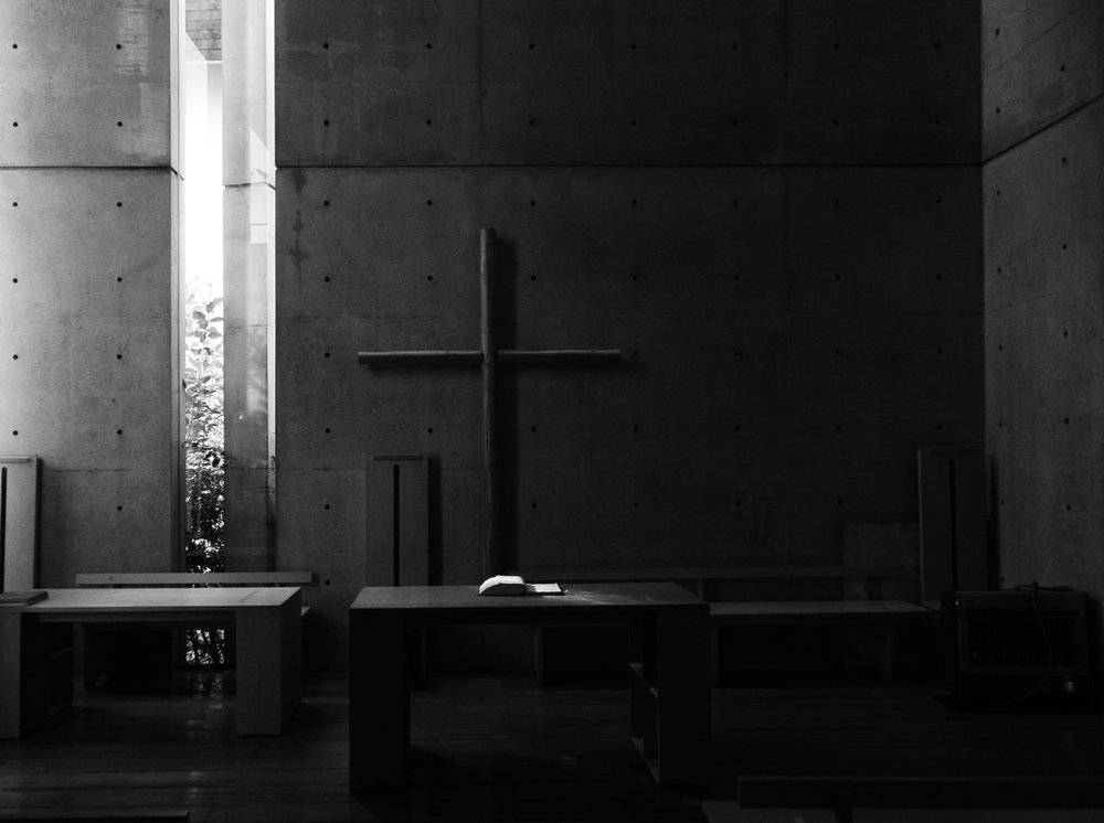 Image: Church of the Light / Osaka by the one and only Tadao Ando. Taken by the then 12 year old wee man Bao Pham.