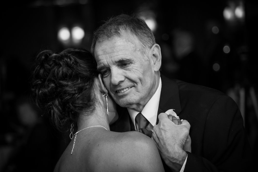 Wedding photographer father emotional Bear Creek Resort Lehigh Valley