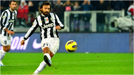 PIRLO'S FOOT IS GOLDEN - POGBA