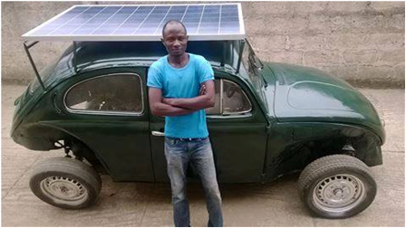 SOLAR POWERED CAR BUILT BY OAU STUDENT