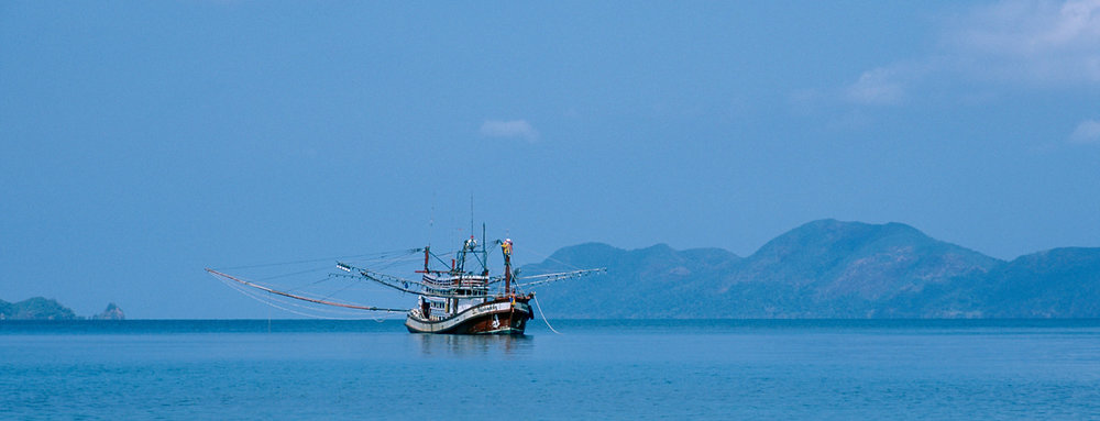 A fishing boat near Koh Wai, Thailand