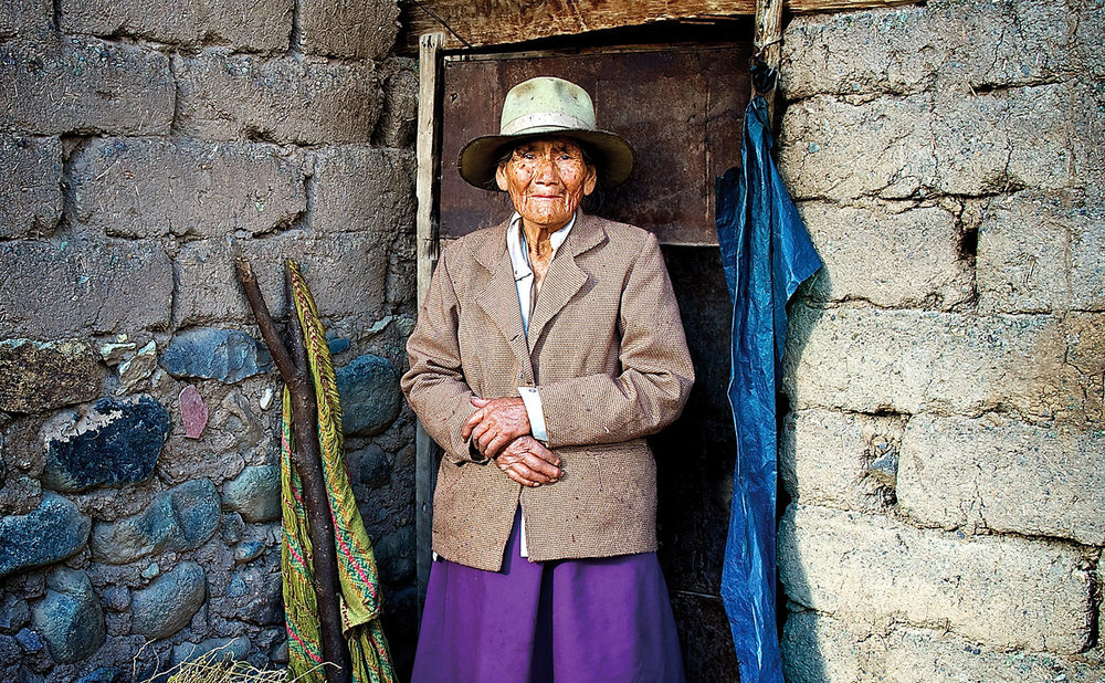 Portraits of Peru - in a small village in the Andes of Peru