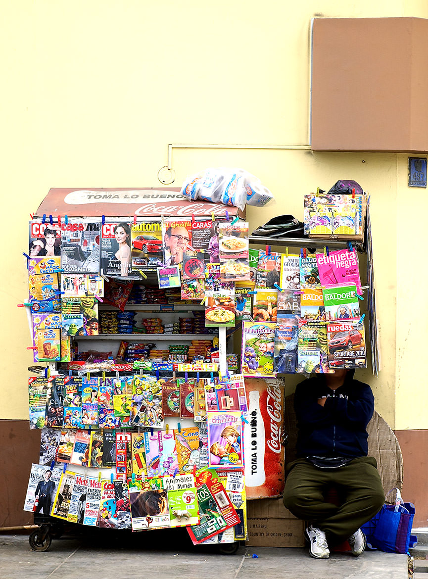 A magazine stand in Trujillo, Peru