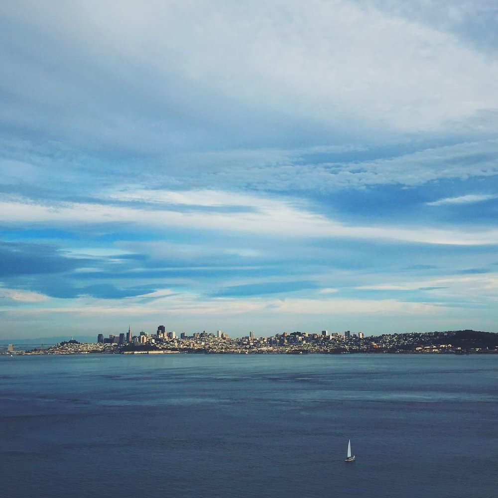 San Francisco skyline from Marin County, California