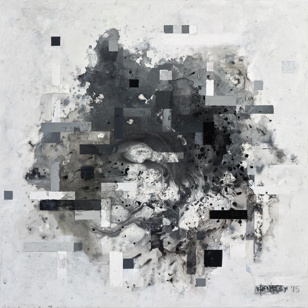 """OramaraSSB115, acrylic on canvas, 12"""" x 12"""", 2015"""