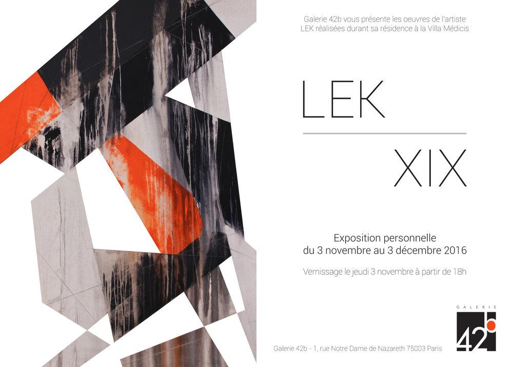 Invitation LEK - XIX