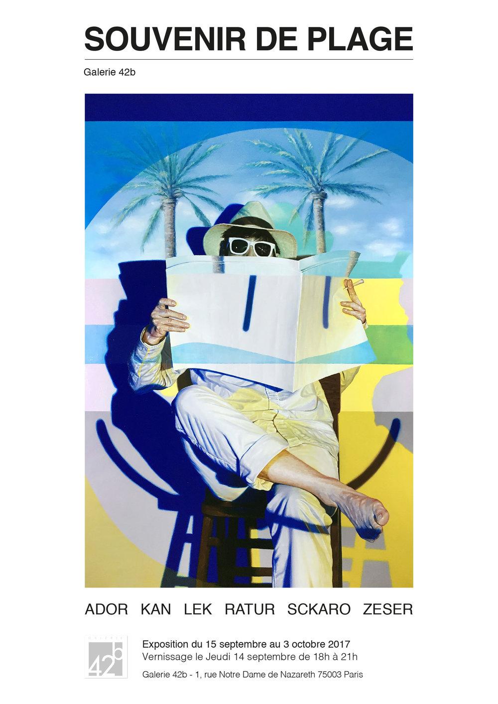 Affiche SOUVENIR DE PLAGE - Exposition collective