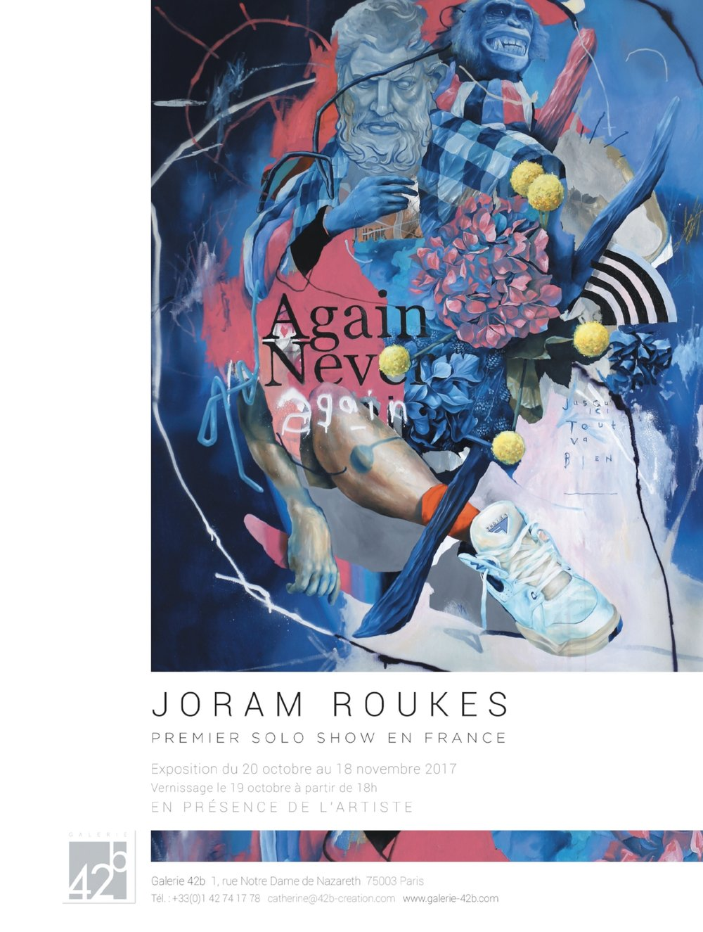 Invitation JORAM ROUKES - AGAIN NEVER AGAIN