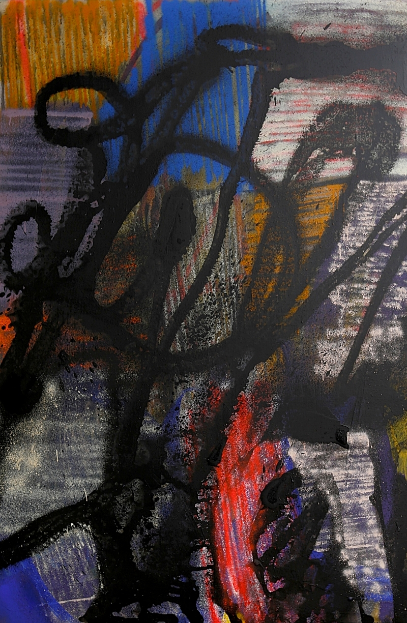 ZESER-Corridors_ Acrylique et aérosol  sur toile - 150 x 100 cm - 2018.jpg