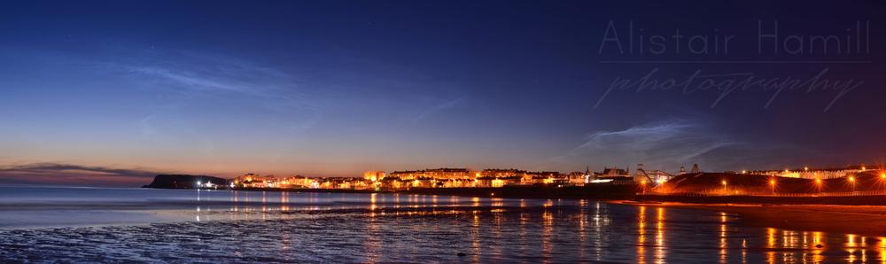 Portrush noctilucent panorama