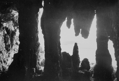 Stalactite Cave of Larrybane by Robert J. Welch c1890. The first photo of the cave.