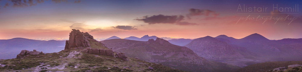 Summer twilight on Binnian