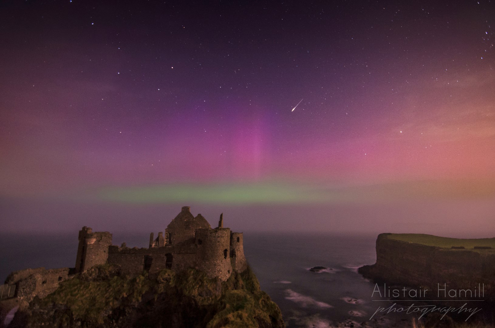 An iridium flare at Dunluce.