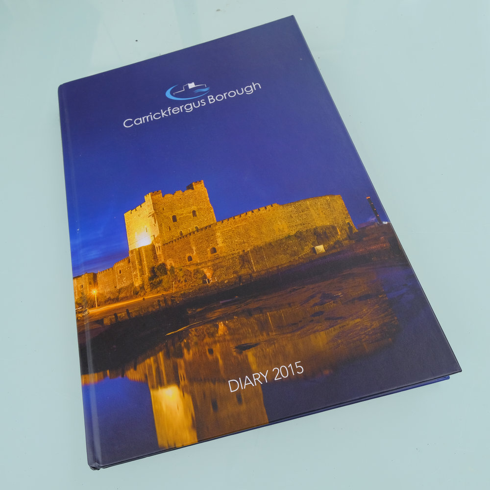 The Mayor's Diary for Carrick Council, a hard back A4 book.