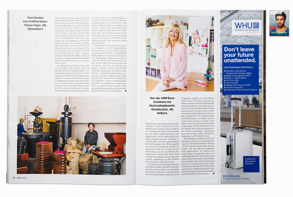 Portraits for DB Mobil magazine, Duesseldorf & Velbert,  2014
