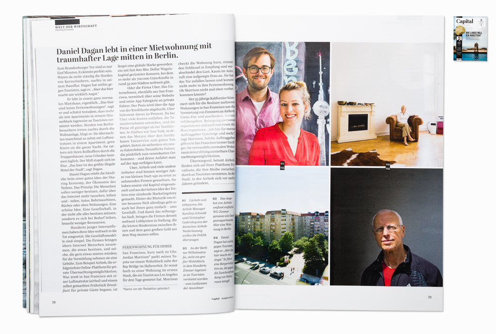 """Sharing economy"" story,  for Capital magazine, Berlin 2014"