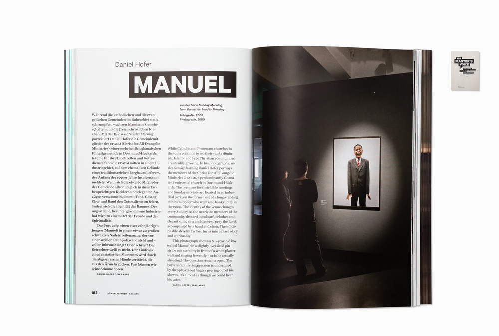 "Manuel from the series ""Sunday Morning"", exhibition catalogue, ""His master's voice"", Hartware MedienKunstVerein HMKV Dortmund, 2013"