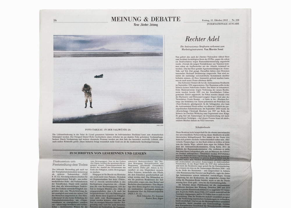 "From the series ""SALAR"", published in NZZ Neue Zürcher Zeitung, 2012"