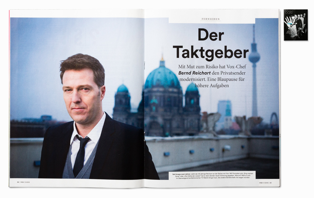 VOX TV Germany CEO Bernd Reichart for W&V Magazine, Berlin 2014