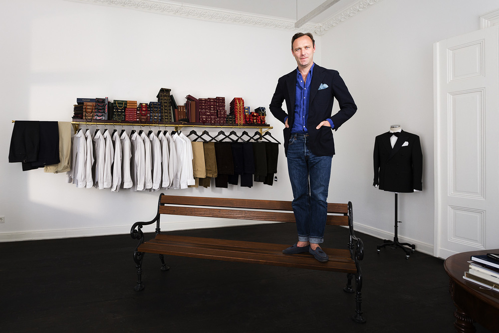 Grill Royal owner Boris Radczun for Diskurs, June 2014, Berlin