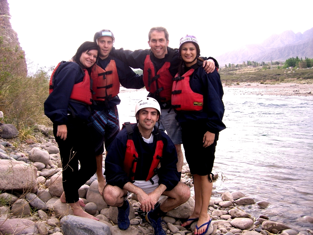 With Friends Whitewater Rafting in Argentina.JPG