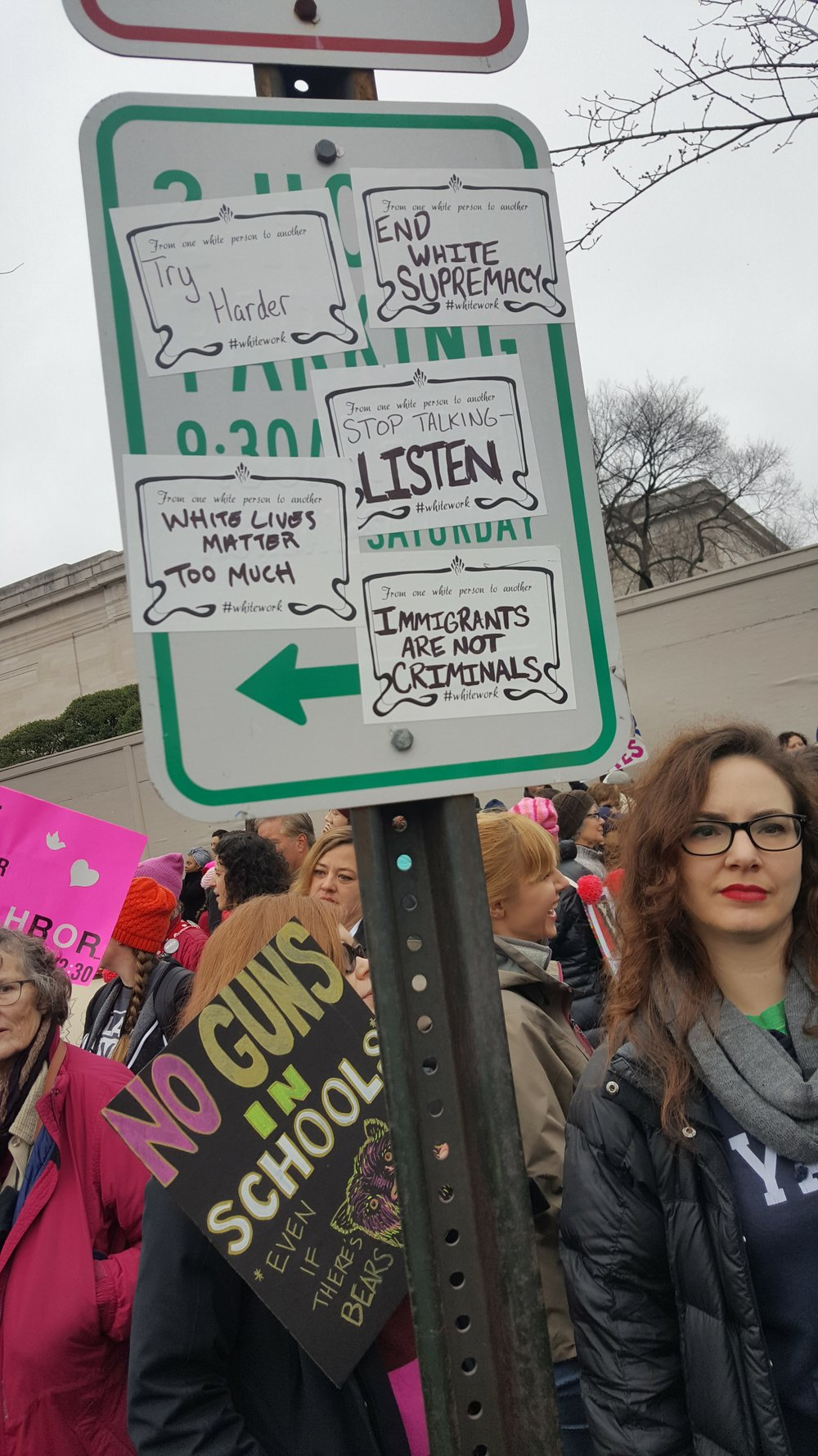 Whitework sticker's Women's March DC 1/21/17