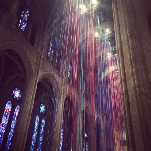 Grace Cathedral - 600 people attend the donations-based yoga class on Tuesdays!