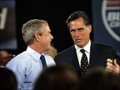 romney with bush