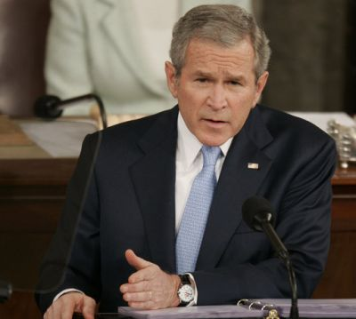 bush giving 2007 state of the union address
